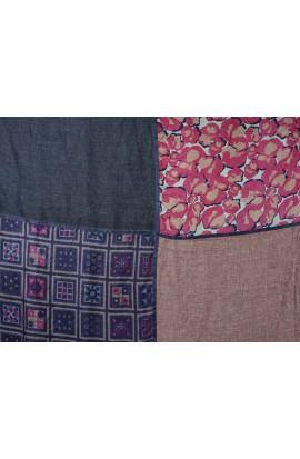 Seiden- Baumwollschal Quadrato