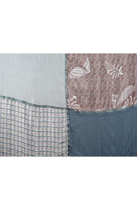Seiden Baumwolle Schal Quadrato
