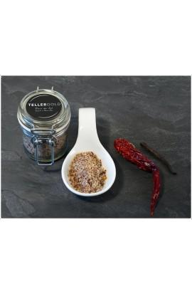 Fleur de Sel mit Chili und Bourbon-Vanille 70 Gramm im Bügelglas