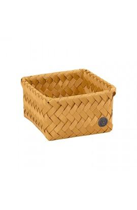 Fit Tiny Basket ochre yellow - Kleiner offener Korb ockergelb