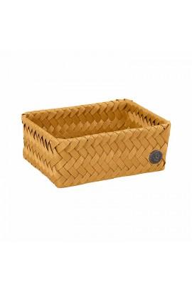 Handed By Fit Small Basket ochre yellow-Schmaler offener Korb ockergelb