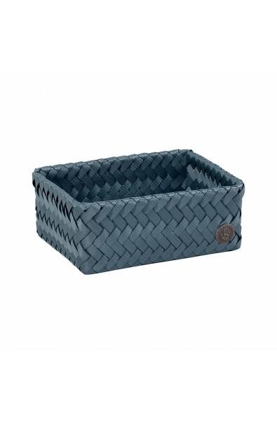 Handed By Fit Small Basket steel blue-Schmaler offener Korb stahlblau