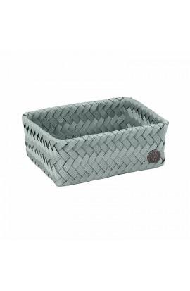 Fit Small Basket eucalyptus-Schmaler offener Korb grüngrau