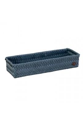 Fit Long Basket steel blue-Langer offener Korb stahlblau