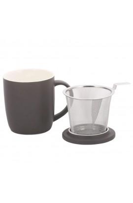 Teebecher mit Sieb 450ml - Schwarz