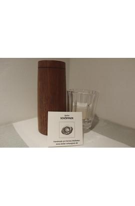 Windlicht für Teelicht kanneliertes Glas