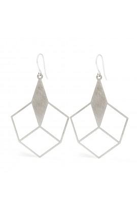 Grafische Ohrringe , Edelstahl