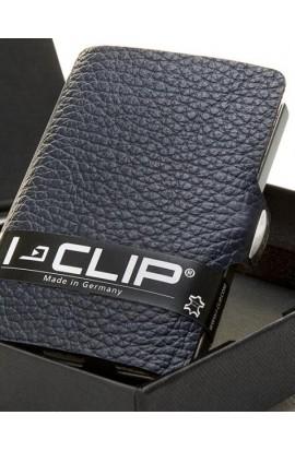 I-Clip Rindsleder Nachtblau