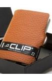 I-Clip Rindsleder Nuss