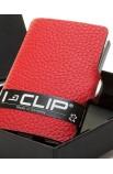 I-Clip Rindsleder Rot