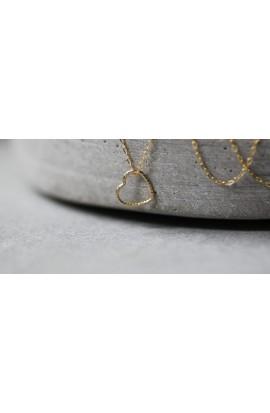 Kette Funkel Herz 925 Silber vergoldet