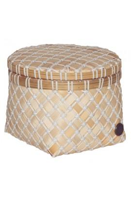 Bamboolastic Korb mit Deckel S / weiss