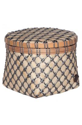 Bamboolastic Korb mit Deckel S / dark grey