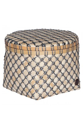 Bamboolastic Korb mit Deckel M / dark grey